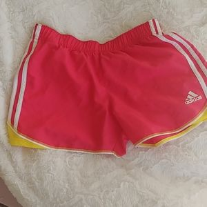 Adidas Athletic Shorts Pink/Yellow